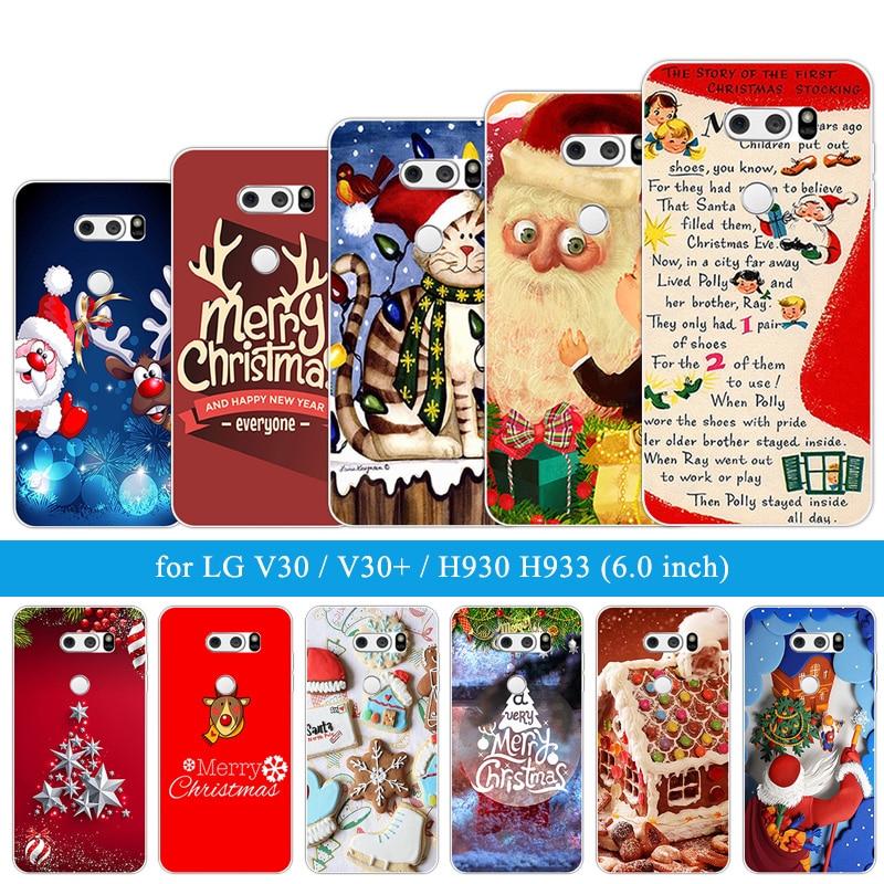 ransparent Phone Cases For LG V30 H930 Case 6.0 inch Silicone Slim TPU Christmas Night Back Cover For LG V30 Cases for LG V30+