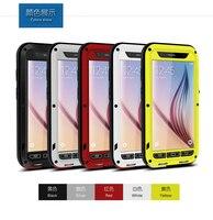 100 Original Love Mei Powerful Case For Samsung Galaxy S6 G9200 Dirtproof Waterproof Shockproof Aluminum Case