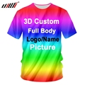 UJWI 3D Print Custom Women/Men Tshirts Cotton Polyester Oversizes Shirts Factory Dropship DIY Team competition Clothing Racing