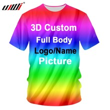 UJWI 3D Print Custom Women/Men Tshirts Cotton Polyester Oversizes Shirts Factory Dropship DIY Team competition Clothing Racing