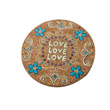 1 Pc Natural Cork Round Moisture Resistant Drink Coasters Cup Coasters Patterned Heat Insulation Mats Pot Holder for Tabletop(China)