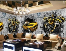3d murals wallpaper for living room car wallpaper murals 3d Home Decoration classic painting wallpaper(China (Mainland))