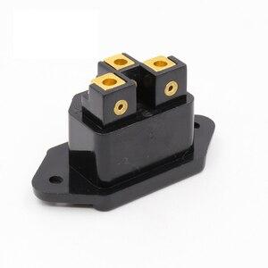 Image 5 - Hifi אודיו AC IEC מפרצון נקבה 24 k זהב מצופה עבור hifi amp מארז 1 יחידות