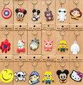 100pcs hot sale soft pvc toys keychain cartoon keychain anime figure pvc keychain for Kids Boys Girls Gift K00018