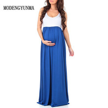 купить MODENGYUNMA Maternity Dresses summer Evening Party Womens Boho Long Beach Dress Pregnant Women Florals Dress Maxi Part Dresses по цене 930.07 рублей