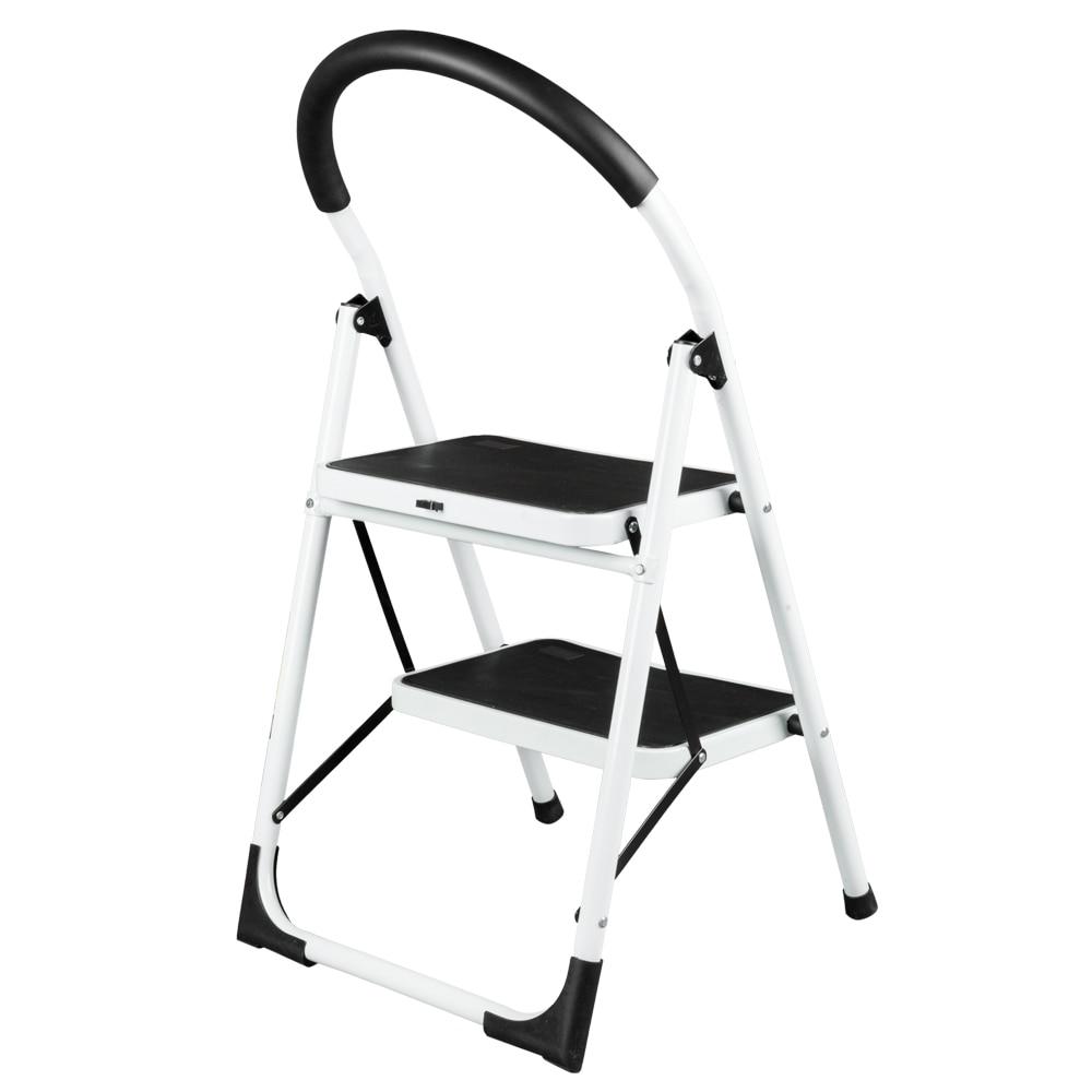 Marvelous 2 Step Ladder Folding Stool Portable Heavy Duty 330Lbs Spiritservingveterans Wood Chair Design Ideas Spiritservingveteransorg