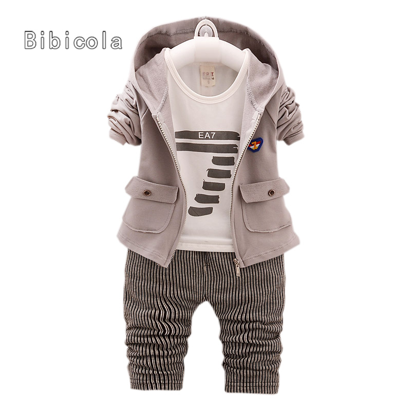 BibiCola spring autumn baby boys clothing set sport suit infant boys hoodies clothes set coat+t-shirt+pants toddlers boys sets 2018 baby boys clothing set kids clothing sets long sleeve t shirt pants autumn spring children s sports suit boys clothes