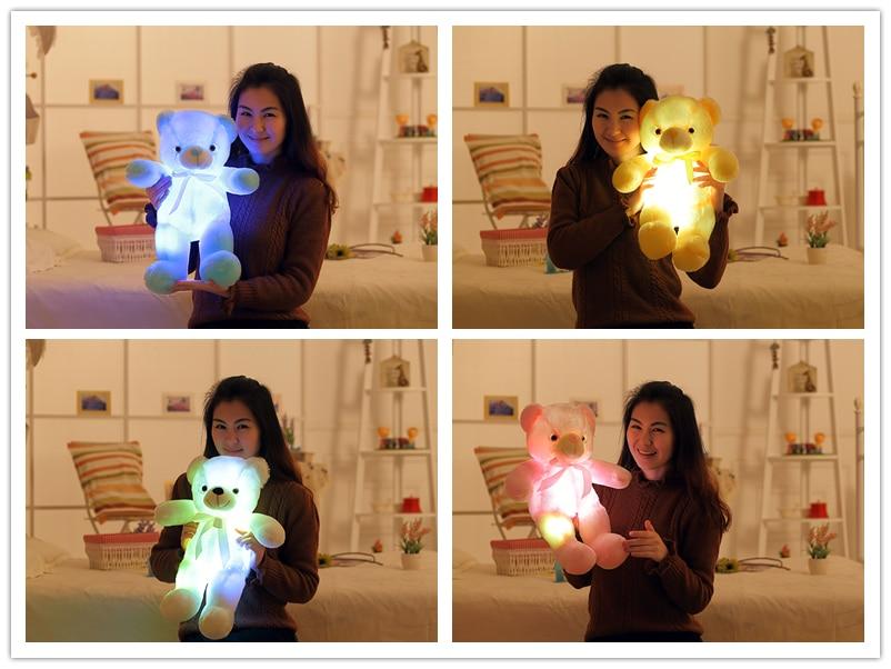 Glowing Teddy Bear Pillow