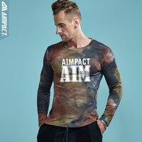 Aimpact Cotton Starry Sky Mens T Shirts Tie Dye Long Sleeve T Shirt Men Fashion Fitness