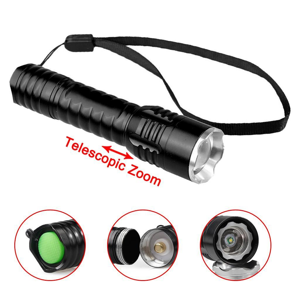 8000LM Waterproof Skywolfeye T6 Bulb Telescopic USB Torch Camping Flashlight DI