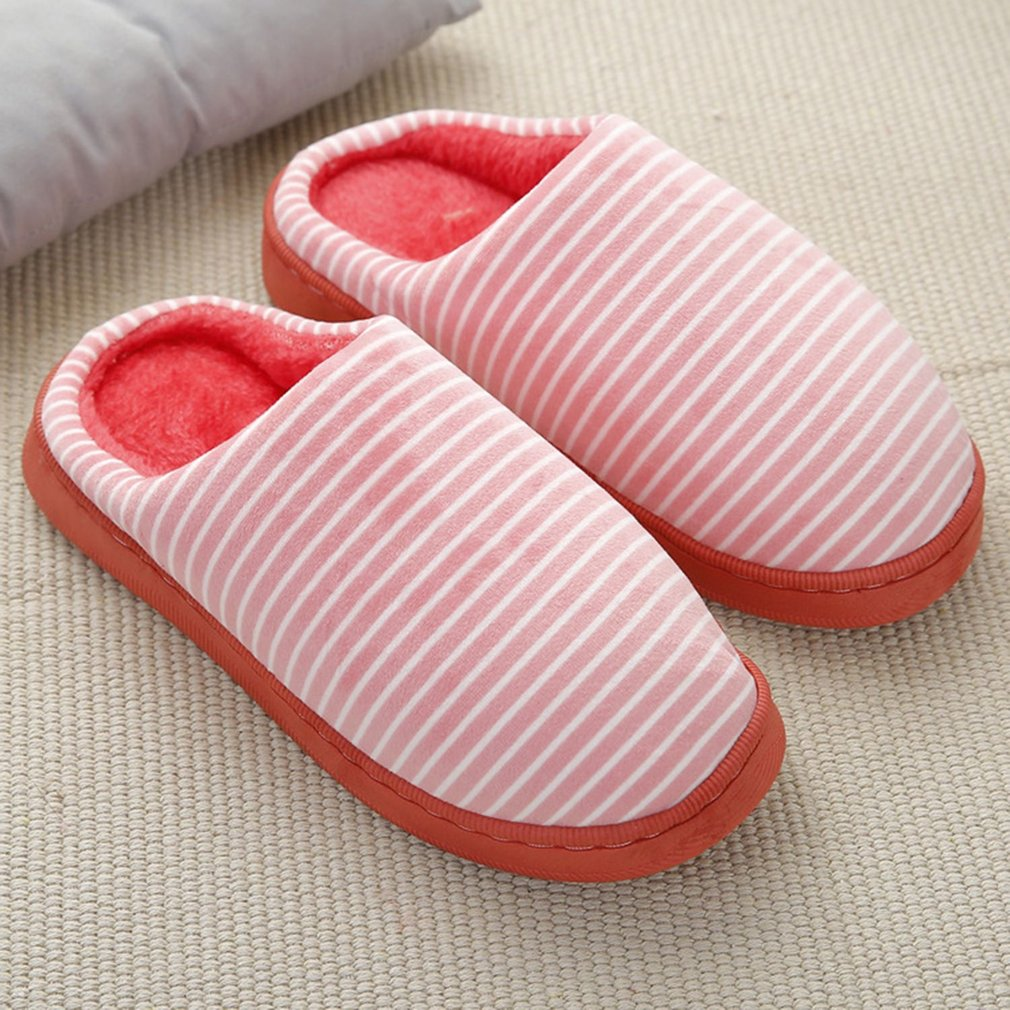 1Pair Cotton Fabric Slippers Home Soft Warm Autumn Winter Slippers Anti-slip Winter Indoor Slippers For Women Men new new men women soft warm indoor slippers cotton sandal house home anti slip shoes