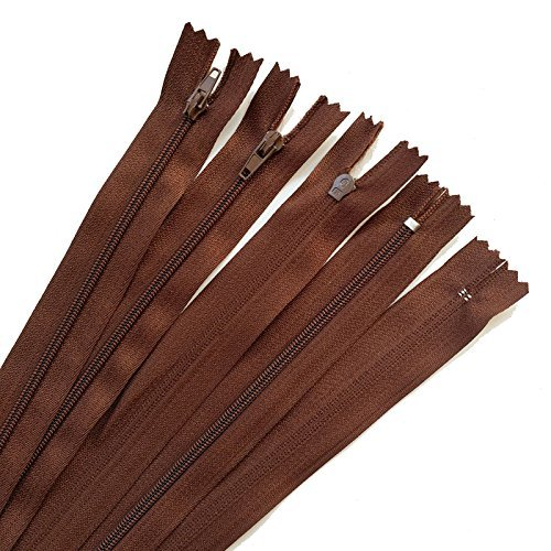 10pcs brown color 3# 15/20/25/30/35/40CM Closed Nylon Coil Zippers Tailor Sewing Craft 300