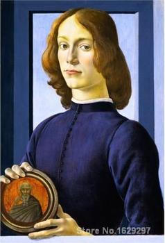 wall art modern PORTRAIT OF A YOUNG MAN Sandro Botticelli Paintings Hand painted High quality