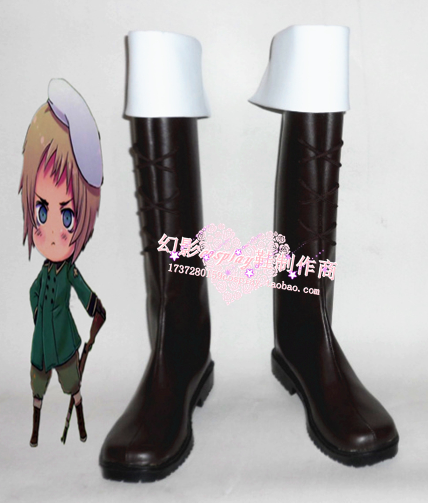 APH Axis Powers hetalia  Vash Zwingli  Cosplay Shoes Boots Custom-Made