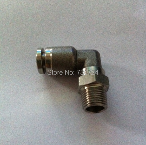 tube size 1/4-1/4 npt thread stainless steel 316 Push in fittings ,Pneumatic fittings,metal fittings,Elbow new 1 4 npt to 6mm compression male elbow double ferrule stainless steel 304 fittings
