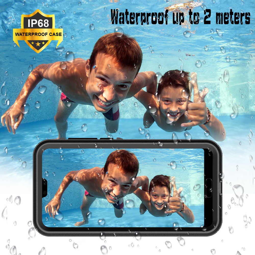 IP68 Waterproof Case for HUAWEI P20 P20 Pro SnowProof Full Cover Diving Case for HUAWEI P20