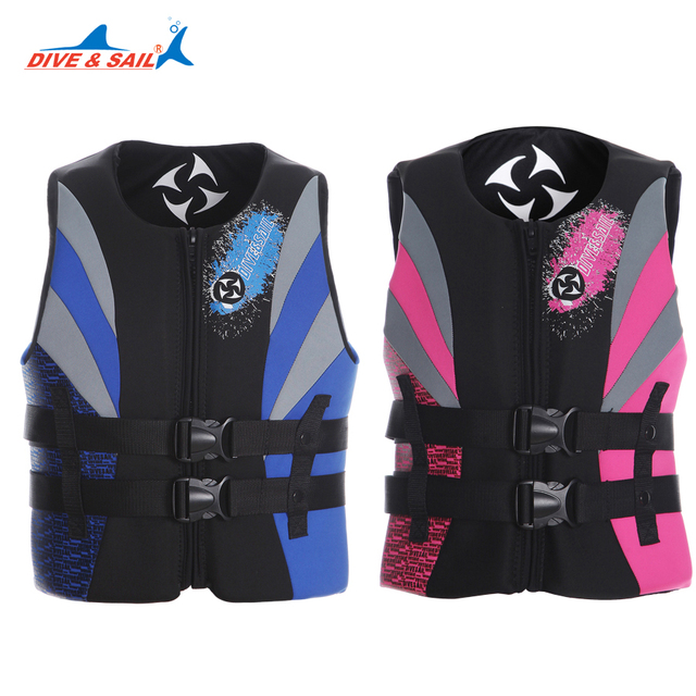 DIVE&SAIL Professional Adults lifejacket sponge Womens Life Vest Premium  Neoprene life jacket kayak boating safety jackets