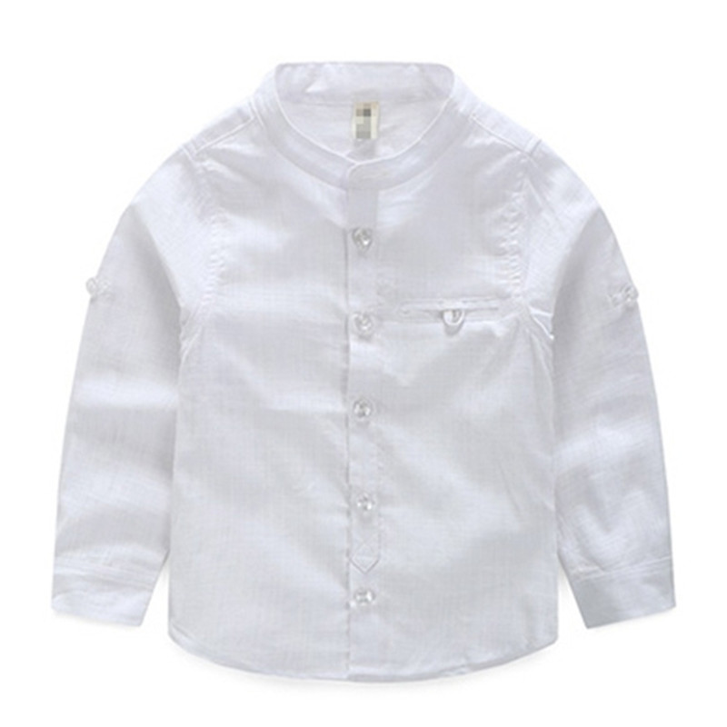 Boys Smart White Black Shirt Long Sleeve Top ages 1-6 yrs 100/% cotton