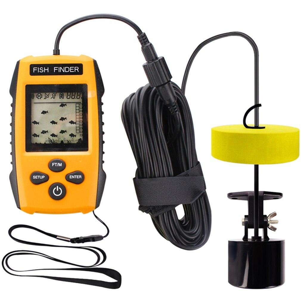 Portable Dot Matrix Fish Finder Wired Sonar Sensor Fishing Detector 0.7-100M Depth Sounder Alarm Lake Sea Fishing Tackle TL88Portable Dot Matrix Fish Finder Wired Sonar Sensor Fishing Detector 0.7-100M Depth Sounder Alarm Lake Sea Fishing Tackle TL88