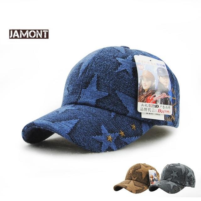 Venta caliente marca jamont mujeres estrella Gorras de béisbol Sol sombrero  otoño invierno al aire libre 3d495aa24d9
