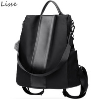 Lisse Fashion Women Backpacks Anti theft Korean Style Nylon Material Large Capacity College Bag Casual Shopping Shoulder Bag