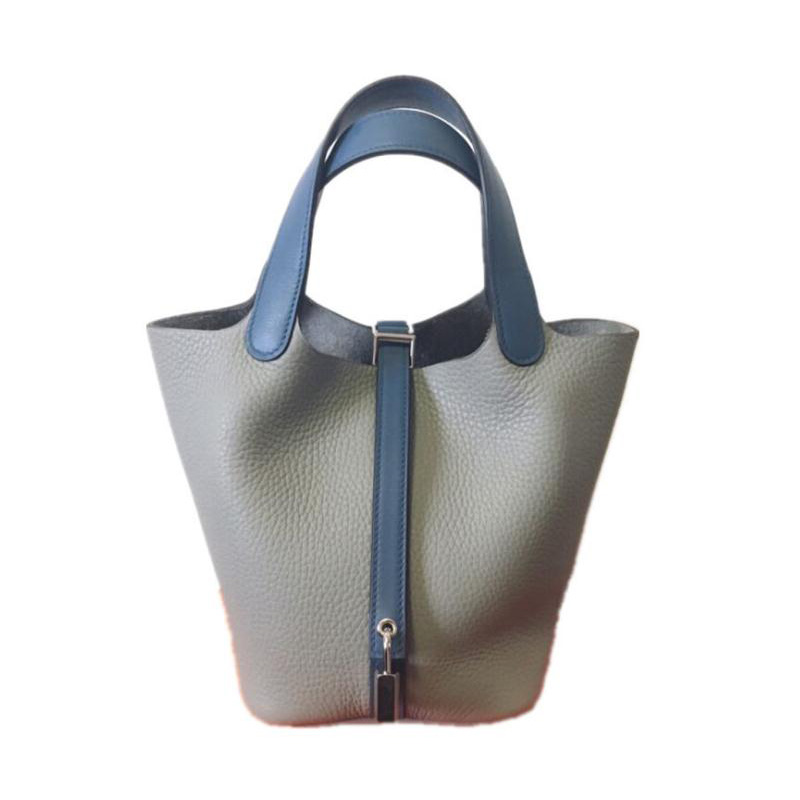 Women Tote Bag Genuine Leather Top Quality Soft Small Female Handbag Candy Color Luxury Design Bucket Purse with Lock Woman SacWomen Tote Bag Genuine Leather Top Quality Soft Small Female Handbag Candy Color Luxury Design Bucket Purse with Lock Woman Sac