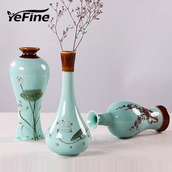 YeFine HAND PAINTING Traditional Chinese Porcelain Flower Vase Ceramic Decorative Flower Vase For Homes Decoration Crafts vase