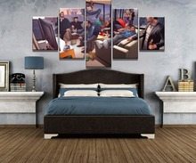 5 Piece Canvas Art Gta V Characters Game Cuadros Decoracion Paintings on Wall for Home Decorations Decor Artwork