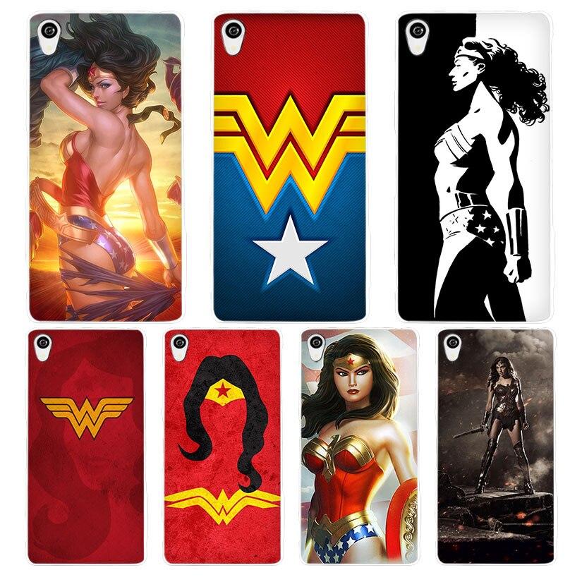 Wonder Woman белый телефон чехол для Sony Xperia z1 z2 z3 Z4 Z5 M4 Aqua C4 XA XZ e4 e5 L36H