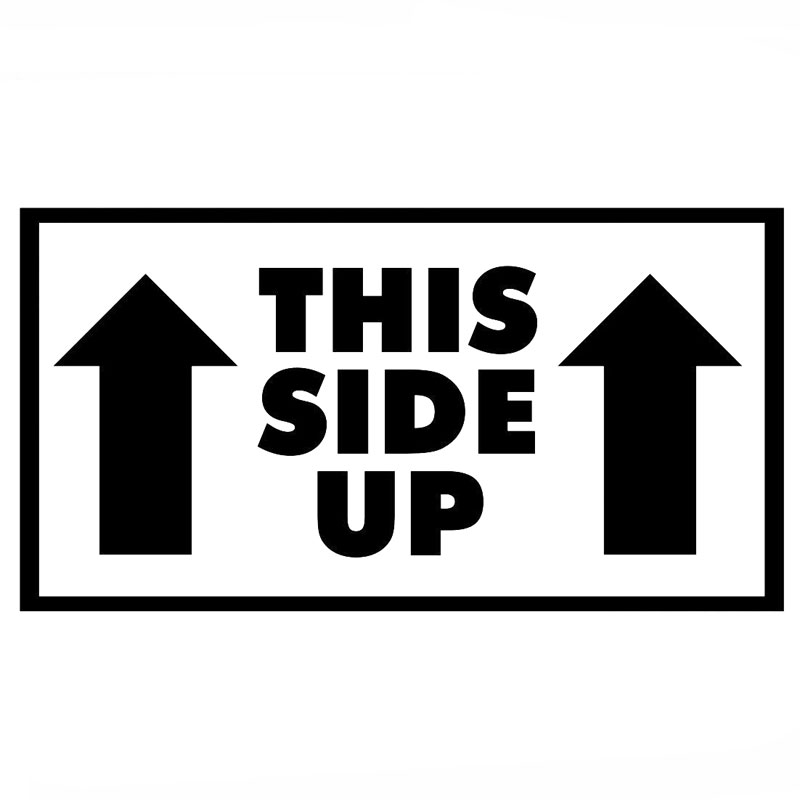 Popular This Side Up Sticker Buy Cheap This Side Up