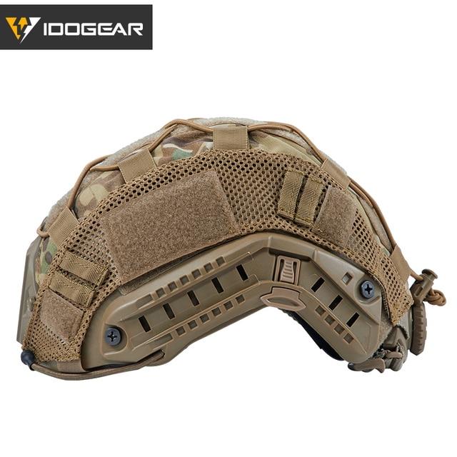 IDOGEAR Tactical Helmet Cover for FAST Helmet Camo Multicam Airsoft Headwear Tactical Helmet Accessories 3802