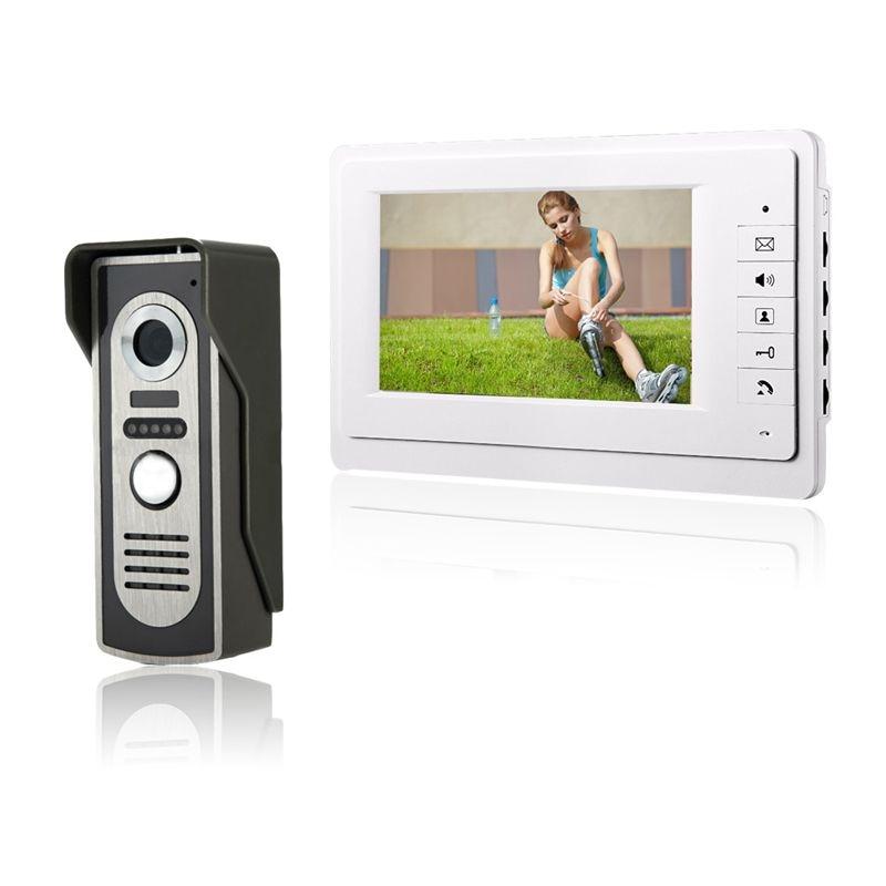 HD 7 TFT Color Video door phone Intercom Doorbell System Kit IR font b Camera b