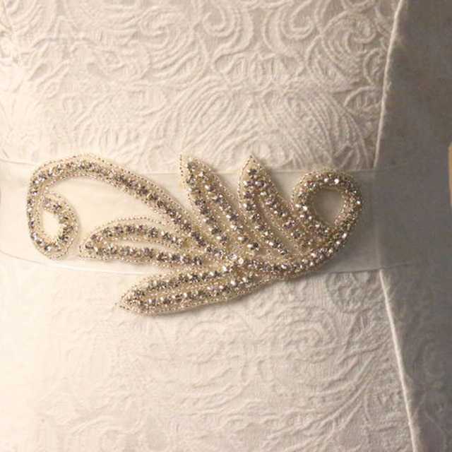 Crystal Rhinestone Wedding Dress Belts and Sashes Accessories 1 Piece Free Shipping In Stock Handmade Bridal Belt