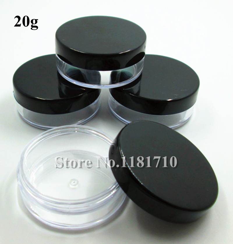 Wholesale 500pcs lot 20g Plastic Jar Cosmetic Packaging Bottle Make Up Sample Jar Display Container with