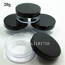 Plastic Jar Packaging-Bottle Cosmetic Black-Cap Make-Up-Sample Display-Container Wholesale