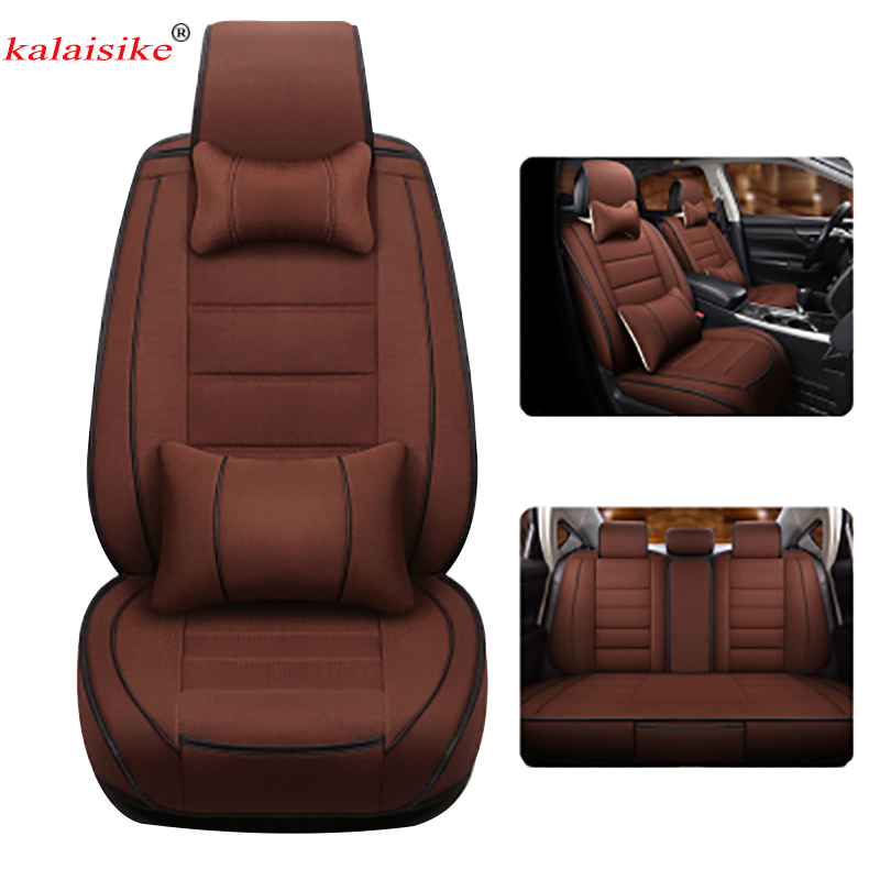 Kalaisike Linen Universal Car Seat Cover for Land Rover all models Rover Range Evoque Sport Freelander Discovery 3 4 car stylingKalaisike Linen Universal Car Seat Cover for Land Rover all models Rover Range Evoque Sport Freelander Discovery 3 4 car styling