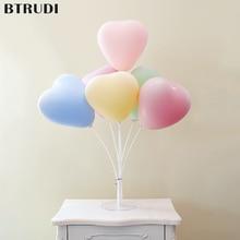 BTRUDI 10pcs/lot heart-shaped thickened macaroon balloons multicolor 10 inch romantic wedding decoration girl happy birthday