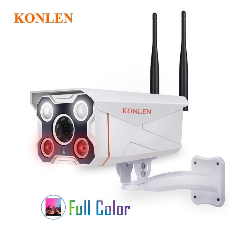 KONLEN Camhi IMX323 Hi3518e Bullet Outdoor IP Camera WIFI Wired HD1080P 720P Full Color Onvif Waterproof
