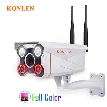 KONLEN Camhi IMX323 Hi3518e Bullet Outdoor IP Camera WIFI Wired HD1080P 720P Full Color Onvif Waterproof 3516 Audio SD TF Card - DISCOUNT ITEM  35 OFF Security & Protection