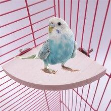 Toy Hamster Perched Bird-Cage Pet-Bird Parrot Wooden Platform 3-Size 1-Pc Bracket-Rack