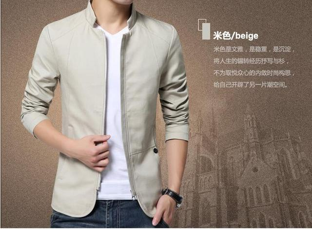 34f6f1b09be56 New High Quality Stand Collar jacket men Casual Blazer Men Slim Fit Mens  Jackets And Coats clothing Costume Homme