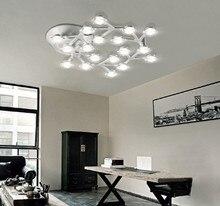 LED Plafond Lumières Plafonnier Lampe De Fleur De Prune En Métal Acrylique LED Lampe pour Salon Salle À Manger-chambre éclairage intérieur