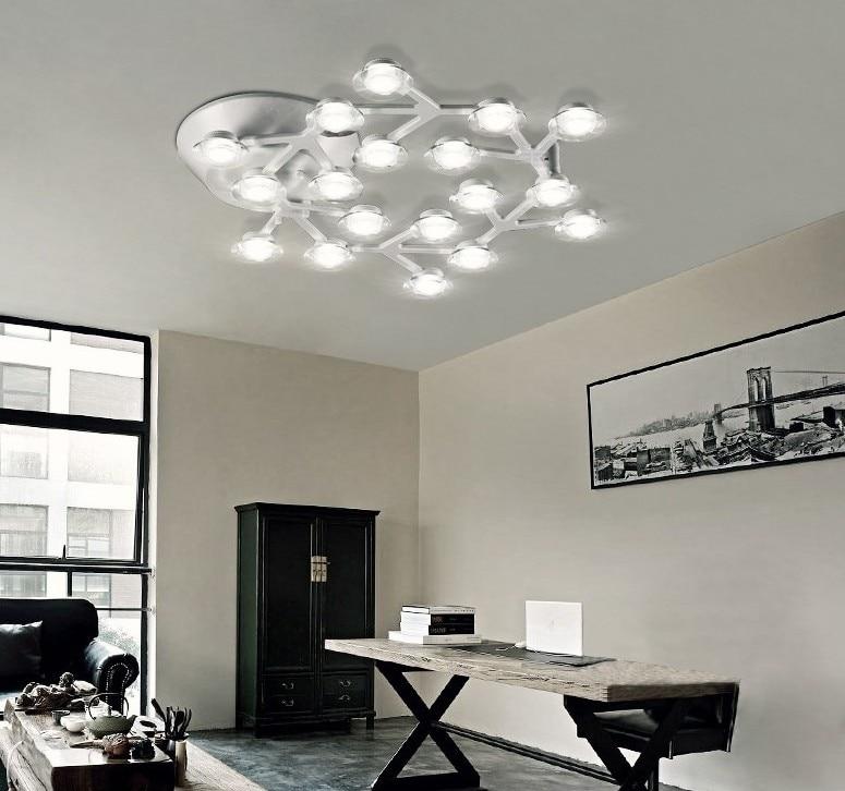 Us 5785 35 Offlampy Sufitowe Led światło Kopuły Plum Blossom Lampa Metalowa Akrylowe Lampy Led Do Salon Jadalnia Oświetlenie Wewnętrzne W