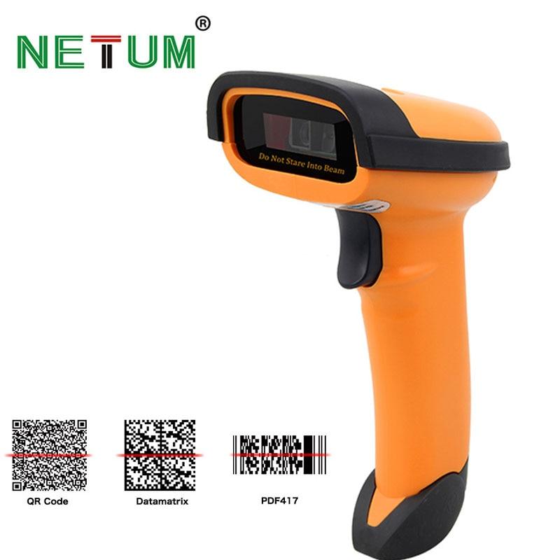 NETUM Hanheld 2D pdf417 QR CODE Bar Reader Scansione Scanner di Codici A Barre USB Professionale Avanzata DataMatrix, PDF417 Codice NT-1228
