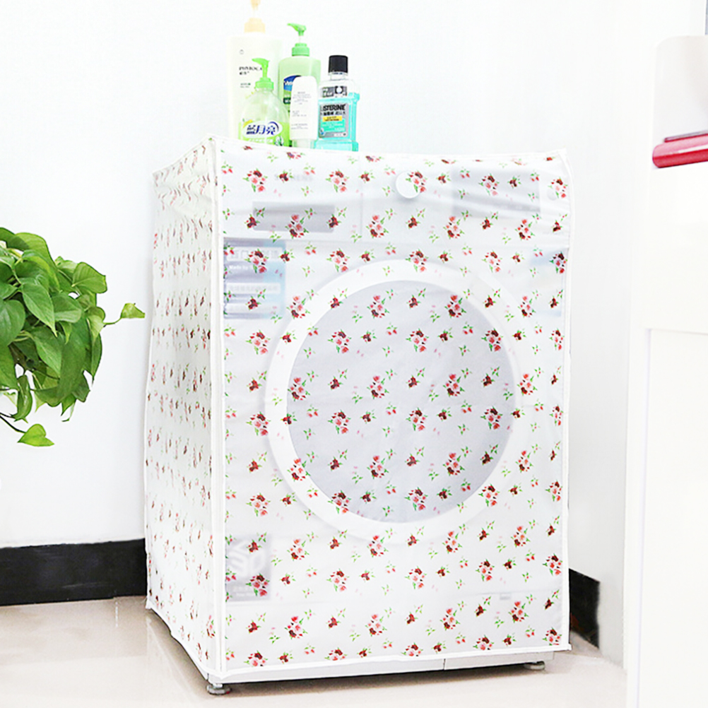 Printing PEVA Sunscreen Dust Proof Cover Washing Machine Cover Waterproof Case Washing Machine Protective Dust Jacket Top Open in Washing Machine Covers from Home Garden