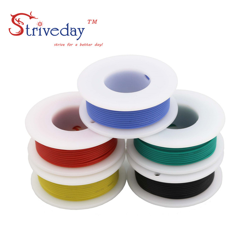 Image 5 - 20AWG 30m/box  Flexible Silicone Cable Wire 5 color Mix box 1 box 2 package Tinned Copper stranded wire Electrical Wires DIY-in Wires & Cables from Lights & Lighting
