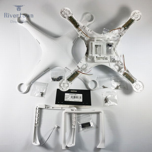Original Brand New DJI Phantom 3 Pro Advanced Body Shell Upper Bottom Cover Landing Gear Compass for P3P P3A Drone Repair Parts
