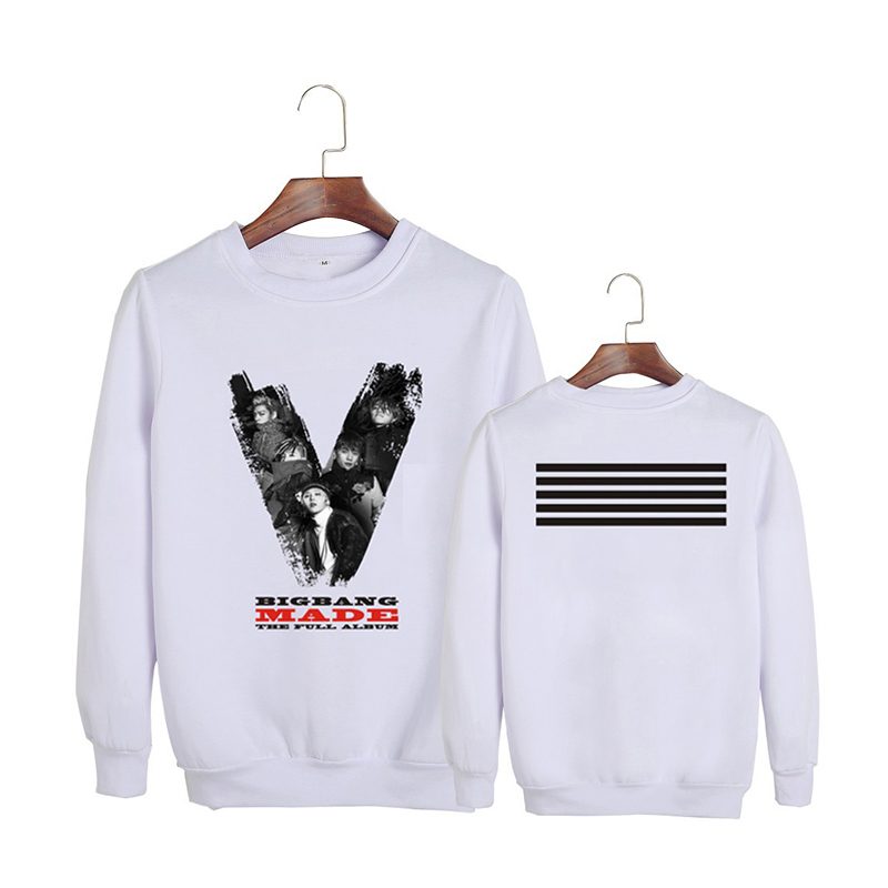 Kpop Korean Bigbang The 3rd Album GD G-Dragon TOP MADE THE FULL Album Cotton Hoodies Clothes Pullovers Sweatshirts PT330