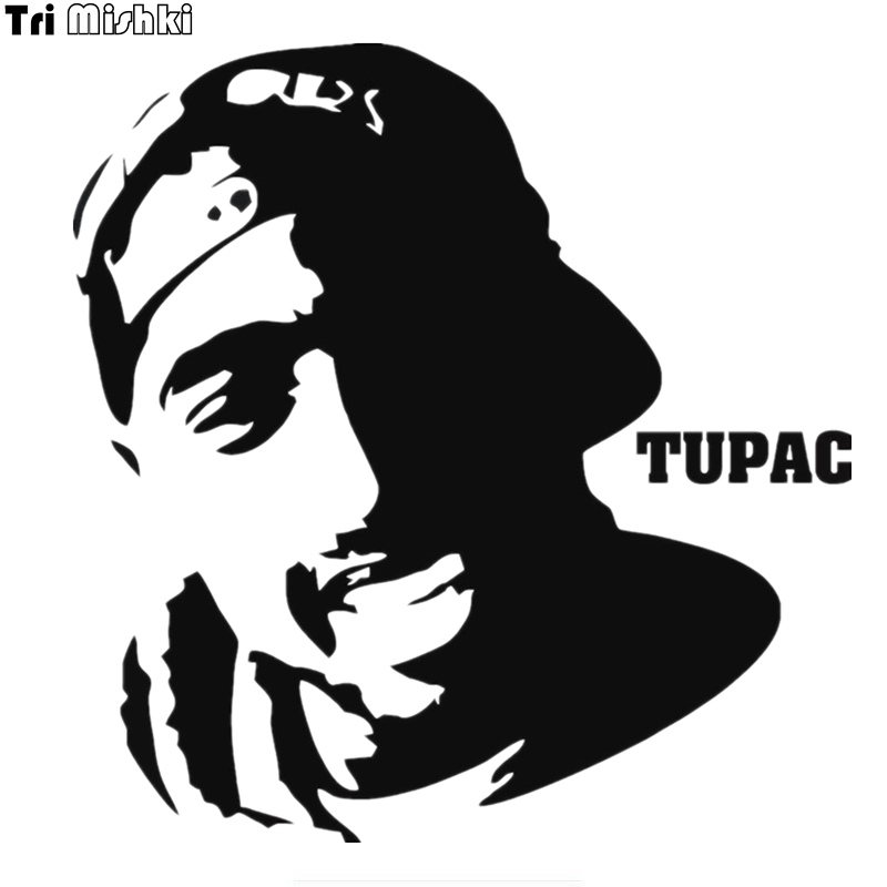 Tri Mishki HZX460 15.4*15cm Tupac Shakur Car Sticker Funny Auto Car Stickers