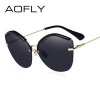 AOFLY 2017 Fashion Women Cat Eye Sunglasses Original Brand Design Sun Glasses Female Ultralight Glasses Mirror